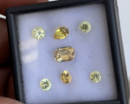 Lovely 3.25tcw untreated yellow sapphire parcel