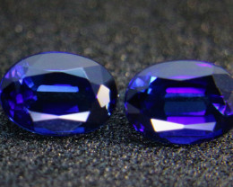 1.30ct Blue Ceylon Sapphire Pair