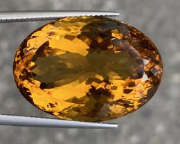 37.21 Cts Natural Citrine Nice Color Gemstone.