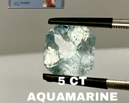 5CT AQUAMARINE I DISCONNECT MY COLLECTION.  AFTER 36 YEARS!