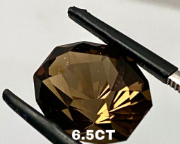 6.5CT SMOKY QUARTZ- I DISCONNECT MY COLLECTION.  AFTER 36 YEARS!