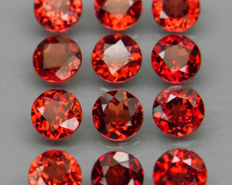 7.02 ct. Natural Earth Mined Red Rhodolite Garnet Africa - 12 Pcs