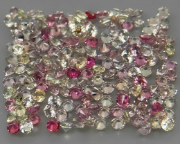 200Pcs/3.83 Ct. Diamond Cut 1.5 mm.Fancy Color UNHEATED Sapphire Songea