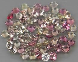 200Pcs/3.83Ct.Diamond Cut 1.5 mm.UNHEATED! Fancy Color Sapphire Songea