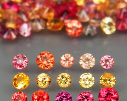 150Pcs/3.85CtRound Diamond Cut 1.4 to 2mm.Beautiful Fancy Color Sapphire So