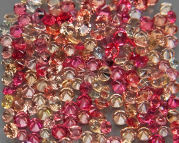 200Pcs/2.95Ct. Round Diamond Cut 1-1.5 mm.Beautiful Color! Fancy Color Sapp