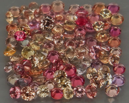 100Pcs/3.05Ct.  Round Diamond Cut 1.6-1.9mm.Ravishing Color! Fancy Color Sa