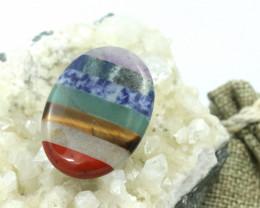 Seven Chakra  Natural Gemstone Worry Stone  AHA 143