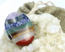 Seven Chakra  Natural Gemstone Worry Stone  AHA 144