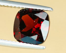2.77CT CUSHION CUT IRON RED GARNET