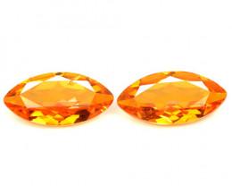 Mystic Quartz 3.19 Cts 2 Pcs Rare Fancy Orange Color Natural