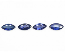 *NoReserve*Ceylon Sapphire 1.65 Cts 4 Pcs Rare Natural Fancy Blue Loose Gem
