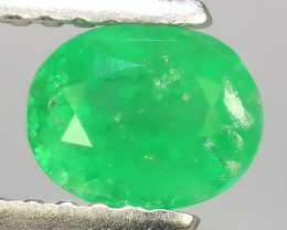 0.65 CTS STUNNING SUPER GREEN COLOUR 100% NATURAL EMERALD COLOMBIA!