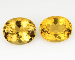 Beryl 3.63 Cts 2 Pcs Amazing Rare Golden Yellow Natural Loose Gemstone