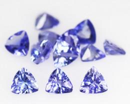 *No Reserve*Tanzanite 3.07 Cts 13pcs Rare Violet Blue Color Natural Gemston