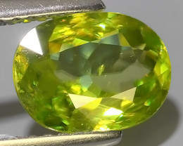 2.15 CTS~EXCELLENT NATURAL-YELLOWISH GREEN SPHENE OVAL~WONDERFUL!!