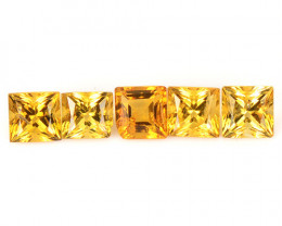 Citrine 1.09 Cts 5 Pcs Fancy Golden Yellow Color Natural Gemstone