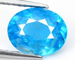 Apatite 1.83 Cts Un Heated Natural Neon Blue Loose Gemstone