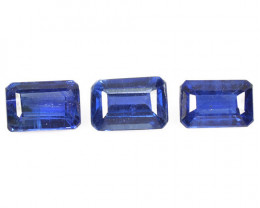 Kyanite 2.41 Cts 3 Pcs Fancy Royal Blue Color Natural Gemstone