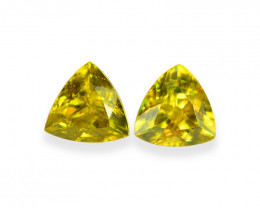 1.92 Cts Stunning Lustrous Natural Sphene Pair