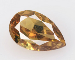 Diamond 0.80 Cts Untreated Fancy Orange Brown Color Natural