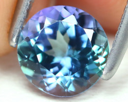 Tanzanite 0.93Ct VS Round Cut Natural Purplish Blue Tanzanite B318