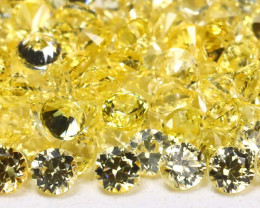 4.65Ct Calibrate 1.7mm Round Natural Ceylon Yellow Sapphire Lot B232