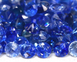 3.66Ct Calibrate 1.9mm Round Natural Blue Color Sapphire Lot B235