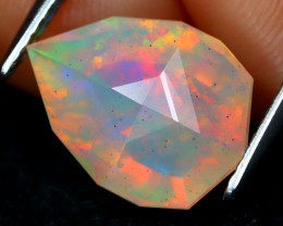 Welo Opal 2.87Ct Master Cut Natural Ethiopian Play Color Welo Opal B213