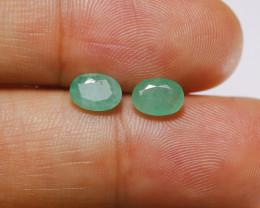 **$15NR** 1.48 tcw Zambian Emerald Earring set