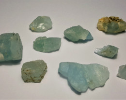 Amazing Natural color Rough Aquamarine lot 100Cts-P GN2