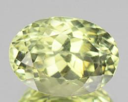 ~AMAZING~ 3.63 Cts Natural Sillimanite Radium Green Oval Cut Sri Lanka