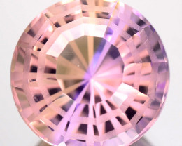 ~CUSTOM CUT~ 13.80 Cts Natural Bi-Color Ametrine Fancy Round Bolivia