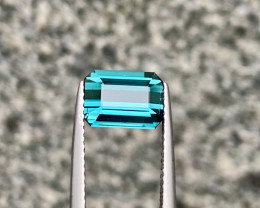 AAA Bright Blue indicolite Tourmaline 2.40 cts A Flawless Piece