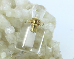 Natural Crystal  Gemstone Bottle AHA 235