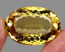 92.25 ct. 100% Natural Unheated Top Yellow Golden Citrine Brazil