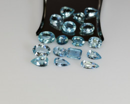 Aquamarine parcel good blue color
