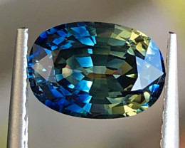 2.07 ct Bi Color Sapphire With Excellent Luster And Fine Cutting Gemstone
