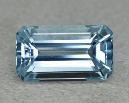 16.35Genuine Natural Blue Color Unheated Aquamarine Emerald cut Loose Gem V