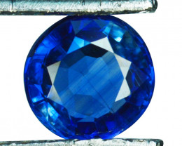 1.47 Cts Natural Royal Blue Kyanite 7.0mm Round Cut Nepal