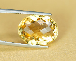 GOLDEN YELLOW 10.01CT STUNNING COLOR CITRINE $1NR!