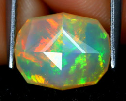 Welo Opal 2.10Ct Master Cut Natural Ethiopian Play Color Welo Opal A1409