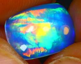Welo Opal 1.86Ct Natural Ethiopian Blue Base Play of Color Opal E1820/A58