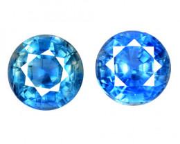 2.04 Cts 2 Pcs Fancy Royal Blue Color Natural Kyanite Gemstone Parcel