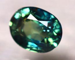 Blue Sapphire 1.08Ct Natural Peacock Sapphire D1914/B25