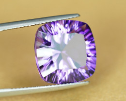 CONCAVE CUT 9.81CT NEON PURPLE NATURAL AMETHYST $1NR!