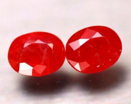 Sapphire 3.43Ct 2Pcs Natural Reddish Orange Sapphire E2003/B38