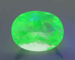 Australian  Hyalite Opal 2.39 ct Fluorescent  Colorless to Neon Green SkU-3