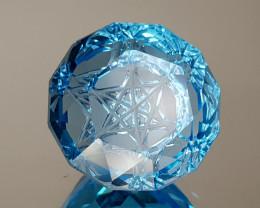 18.85CT BLUE TOPAZ PRECISION CUT  BEST QUALITY GEMSTONE IIGC32