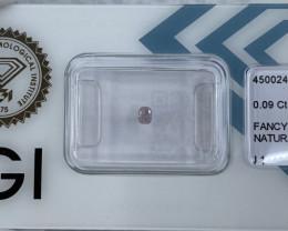 Untreated Fancy Pink Diamond IGI CERTIFIED 0.09ct Sealed Blister I1 Cushion